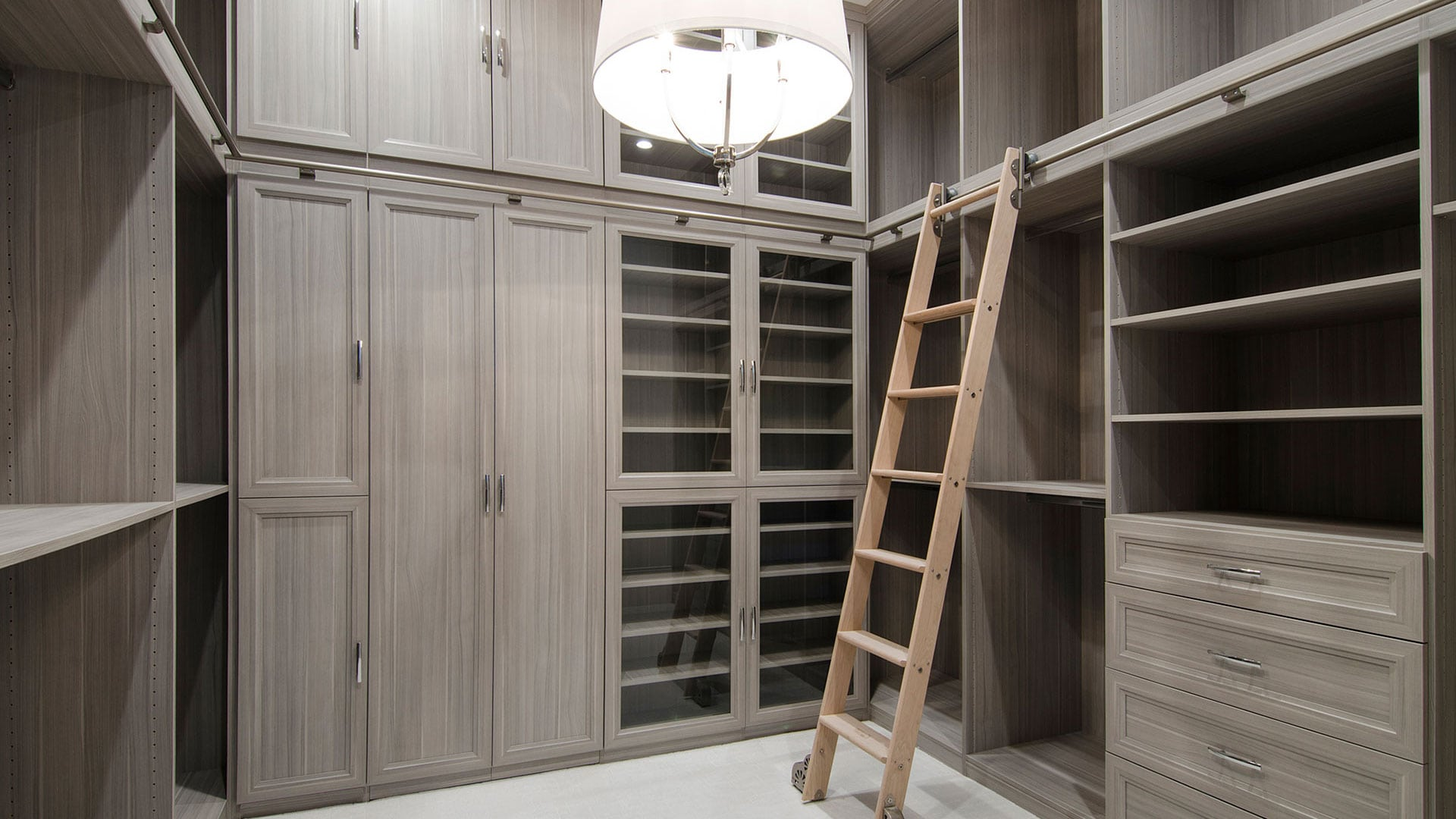 Custom closet design maximized for organization